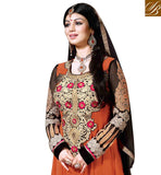AYESHA TAKIA ORANGE RAJWADI FULL LENGTH DESIGNER SALWAR SUIT RTAY904