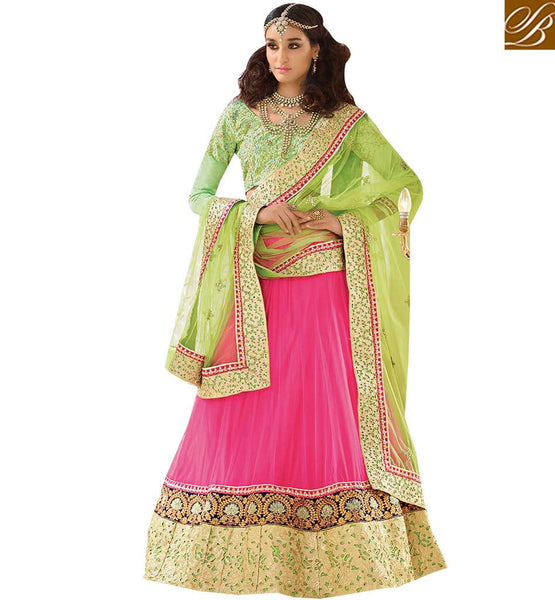 APPEALING HEAVILY EMBROIDERED 3 PIECE GHAGRA CHOLI RTSYS9040 BY STYLISH BAZAAR PRESENTATION