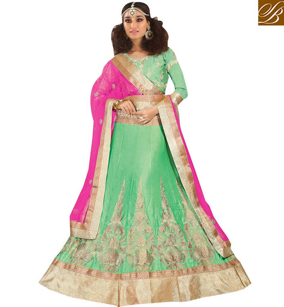 ALLURING SATIN LEHENGA COMBINED WITH AN ART SILK BLOUSE RTSYS9041