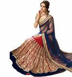 FROM STYLISH BAZAAR MAROON AND CREAM LEHENGA CHOLI DESIGNER WEAR RTARIJ9044
