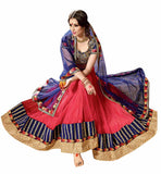 FROM STYLISH BAZAAR ANGELIC DESIGNER BLUE LEHENGA SAREE DESIGN  RTARIJ9045