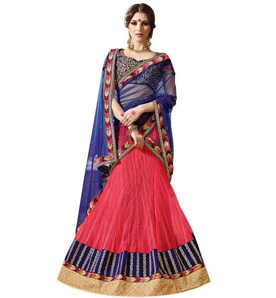 STYLISH BAZAAR ANGELIC DESIGNER BLUE LEHENGA SAREE DESIGN  RTARIJ9045