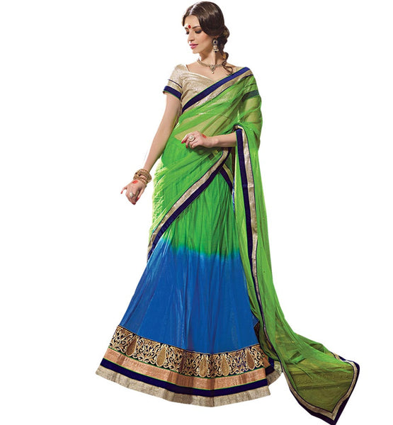 STYLISH BAZAAR FASHIONABLE LEHENGA SARI DESIGNER WEAR RTARIJ9048
