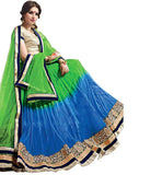 A STYLISH BAZAAR PRESENTATION FASHIONABLE LEHENGA SARI DESIGNER WEAR RTARIJ9048