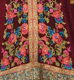 Bottom churidar is of orange color and is of santoon fabric. Matching chiffon dupatta comes with lace border work Photo