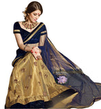 BROUGHT TO YOU BY STYLISH BAZAAR MESMERIZING NAVY BLUE CHOLI CONJUGATED TO A CREAM GHAGRA RTARIJ9060