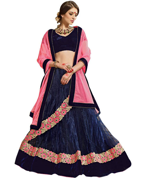 FROM STYLISH BAZAAR CAPTIVATING PARTY WEAR BLUE GHAGHRA CHOLI DESIGN RTARIJ9063