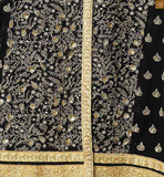 Heavy worked lace border is provided on the front portion Floral embroidery work is there on front and back side Pic