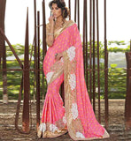 2015 COLLECTION RAJWADI PARTY WEAR SAREE WITH BLOUSE ONLINE SHOPPING