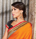 NEW LOOK PARTY WEAR SARI WITH SHADED COLORS AND EMBROIDERY WORK