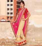 FASHIONABLE PARTY WEAR SAREE WITH BLOUSE PIECE ONLINE SHOPPING