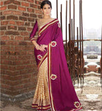 BEAUTIFUL COLOR COMBINATION PARTY WEAR SARI BLOUSE ONLINE SHOPPING