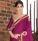 EYE-CATCHING PARTY WEAR SARI WITH BEAUTIFUL COLOR COMBINATION