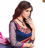 FROM THE HOUSE OF SPLENDID BLUE COLOURED SAREE COMPLEMENTED WITH A BLUE BLOUSE RTDOV9101