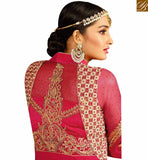 STYLISH BAZAAR INTRODUCES ENORMOUS PINK COLORED DESIGNER SALWAR KAMEEZ WITH GLITTERING EMBROIDERY WORK SLAFN9106