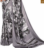 NOTABLE WHITE SARI ALONG WITH WHITE BLOUSE RTDVM9306 COLOR BLACK