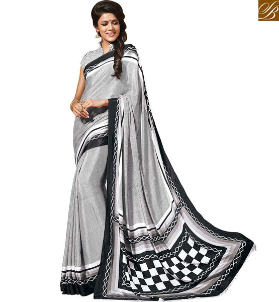 BROUGHT TO YOU BY STYLISH BAZAAR APPEALING CREPE SILK PRINTED SAREE RTDVM9310