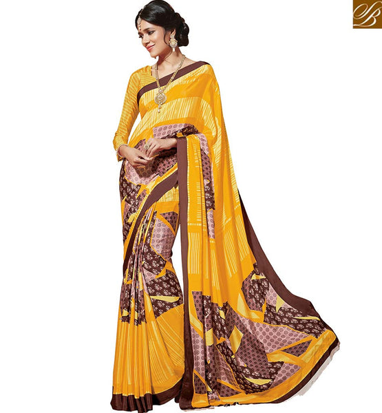 STYLISH BAZAAR INTRODUCES PLEASING DESIGNER PRINTED SARI RTDVM9312