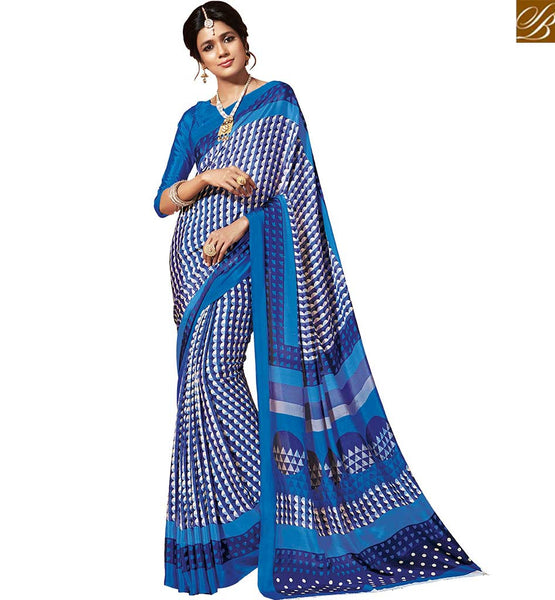 BROUGHT TO YOU BY STYLISH BAZAAR MARVELOUS DESIGNER PRINTED SARI BLOUSE RTDVM9316