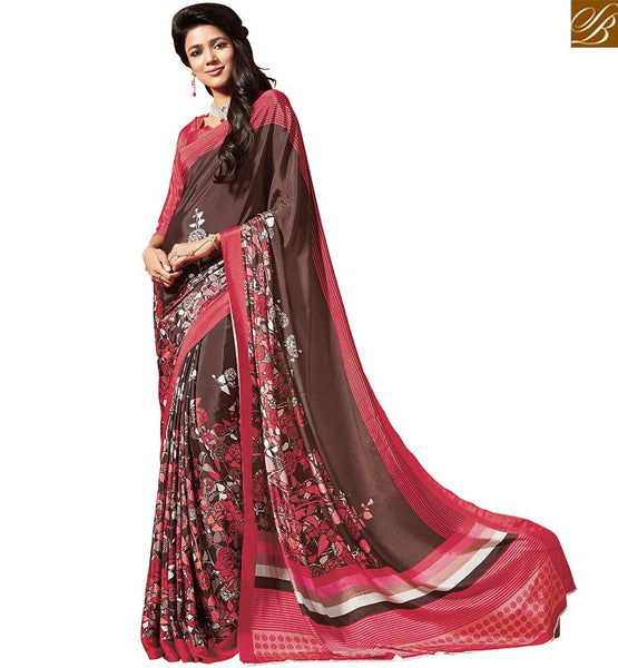 MARVELOUS FLOWERY PRINT SAREE RTDVM9318