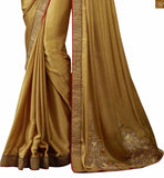 FROM THE HOUSE OF STYLISH BAZAAR ENTICING BEIGE DESIGNER SAREE MATCHED WITH LOVELY BLOUSE RTHYC9408