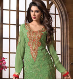 2015 DESIGN LADIES WEAR SALWAR KAMEEZ DRESS MATERIAL SHOP ONLINE GREEN