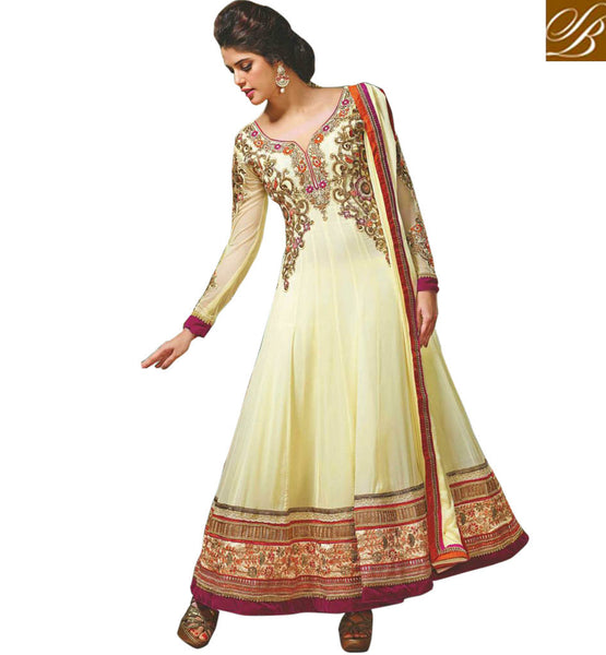 DESIRABLE CREAM GEORGETTE SALWAR KAMEEZ