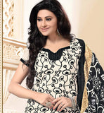Black and Off White Printed Kurti kameez