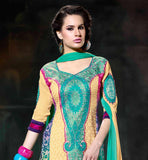 NEW PATTERN WOMEN'S WEAR PUNJABI SUIT CHURIDAR SALWAR & DUPATTA
