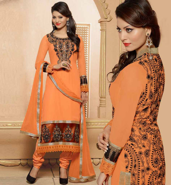 PAKISTANI STYLE PARTY WEAR SALWAR KAMEEZ FOR WOMEN CHIFFON DUPATTA