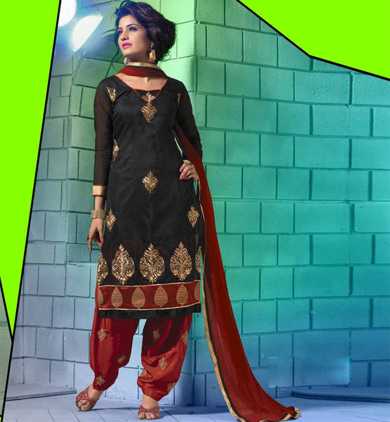 Pure Chanderi Cotton Salwar Kameez, Designer  Pure Chanderi Salwar Suits, Pure Chanderi Straight salwar Dresses