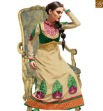 IRRESISTIBLE CREAM GEORGETTE PARTY WEAR ANARKALI DRESS RTASM9