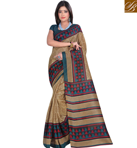 STYLISH BAZAAR PRESENTS ORNAMENTAL AND GEOMETRICAL DESIGNER PRINT SARI RTVAN9