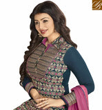 FROM THE HOUSE OF STYLISH BAZAAR BLUE GEORGETTE HAVING ENCHANTING EMBROIDERY PARTY WEAR AYESHA TAKIA STRAIGHT CUT SUIT ANZN1146