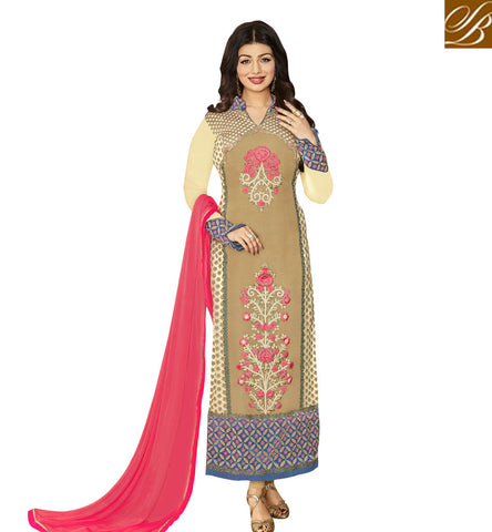 STYLISH BAZAAR ATTRACTIVE STRAIGHT CUT PAKISTANI PARTY WEAR AYESHA TAKIA HYNECK STYLE DESIGNER SUIT ANZN1151