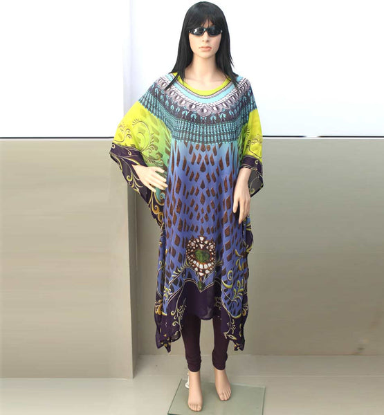 BUY KAFTAN ONLINE INDIA STYLISH DIGITAL PRINT WEIGHTLESS GEORGETTE