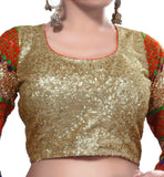 BUY DESIGNER BLOUSE ONLINE INDIA LATEST DESIGN HEAVY SEQUINS WORK