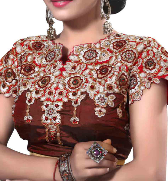 LATEST NECK & BACK PATTERN BLOUSE  TO WEAR WITH YOUR DESIGNER SAREE