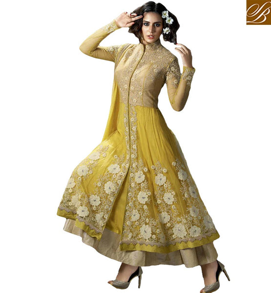ANGELIC CREAM DESIGNER SALWAAR SUIT BLFS1176 YELLOW