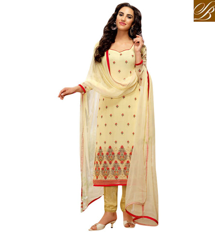 STYLISH BAZAAR DAZZLING MUSTARD COLOUR GEORGETTE WITH FLORAL STRAIGHT CUT SUIT BLFS12
