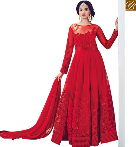 STYLISH BAZAAR WEAR INDIAN TRADITIONAL BEAUTIFUL DESIGNER SUIT FOR WOMEN BLFS1530
