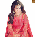 STYLISH BAZAAR INTRODUCES SHOP EYE CATCHING RED SILK DESIGNER SUIT WITH RESHAM EMBROIDERY BLFS1534