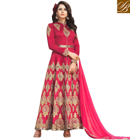 STYLISH BAZAAR Buy Red designer Indo-western women suit latest Bela gown online India BLFS1575