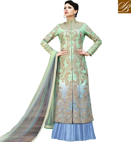 STYLISH BAZAAR Buy Band gala embroidered Bela lehenga kameez Eid dresses 2017 online BLFS1583
