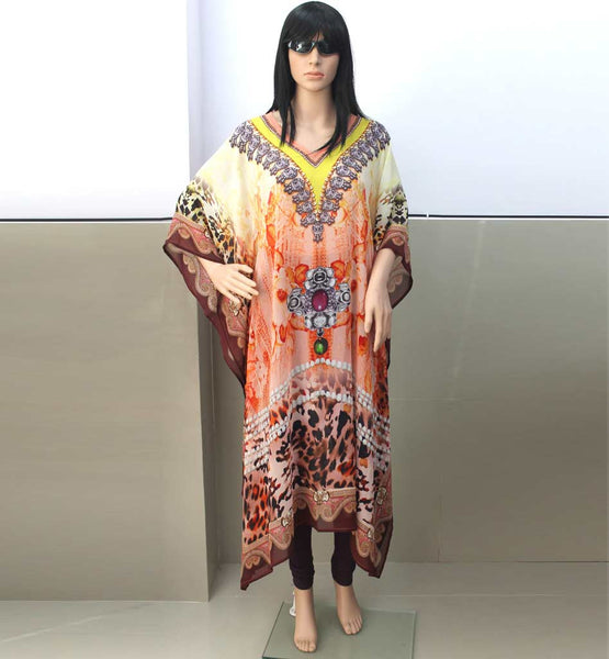 MOROCCAN STYLE WOMEN DIGITAL PRINT KAFTAN ONLINE SHOPPING IN INDIA