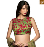 FROM STYLISH BAZAAR BEAUTIFUL MAROON RAW SILK DESIGNER LEHENGA HAVING CAPTIVATING FLORAL EMBROIDERY ON CHOLI CHRT106