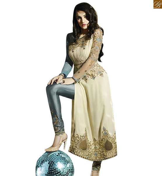 LOVELY AND STYLISH CREAM DESIGNER SALWAR KAMEEZ DRMZ5006