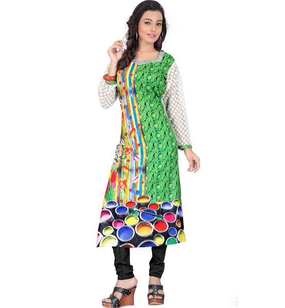 HIGH QUALITY DIGITAL PRINT GEORGETTE TUNIC TOP FOR MODERN GIRLS
