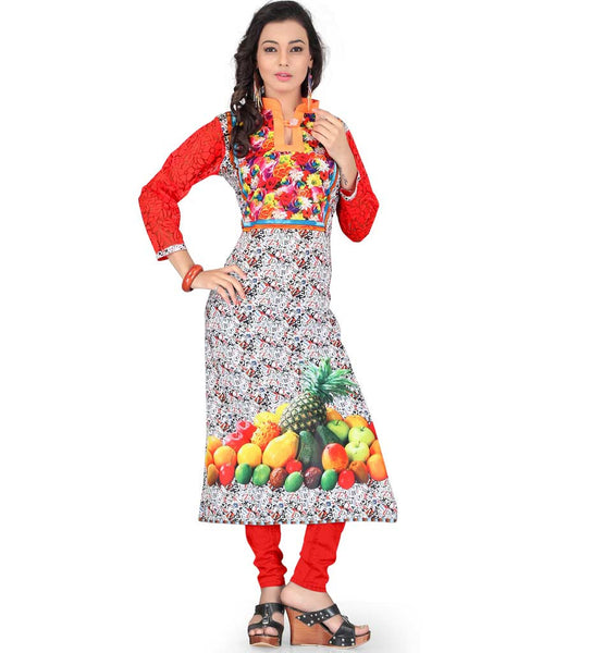 DIGITAL PRINT KURTI THAT YOU CAN WEAR WITH JEANS OR CHURIDAR