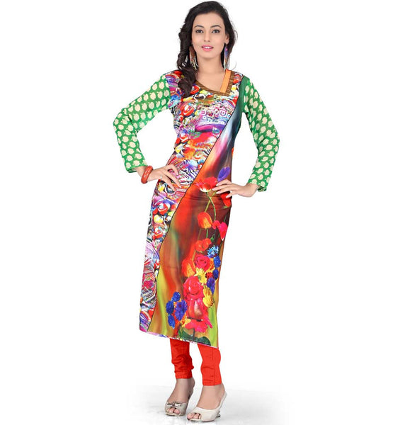 ONLINE DESIGNER DIGITAL PRINT KURTI SHOPPING INDIA CASH ON DELIVERY